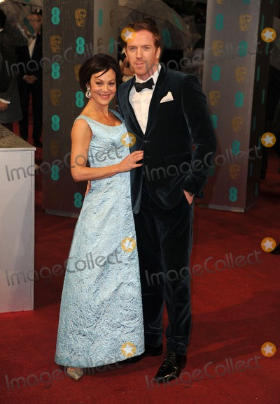 Damien Lewis Photo - Damien Lewis and Helen McRory arriving for the 2013 British Academy Film Awards at the Royal Opera House London 10022013 Picture by Alexandra Glen  Featureflash