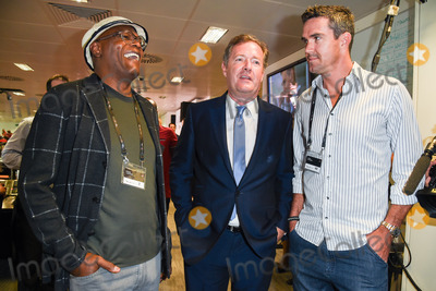 Kevin Pietersen Photo - Samuel L Jackson Piers Morgan  Kevin Pietersen at the BGC Charity Day 2015 at Canary Wharf London September 11 2015  London UKPicture Steve Vas  Featureflash