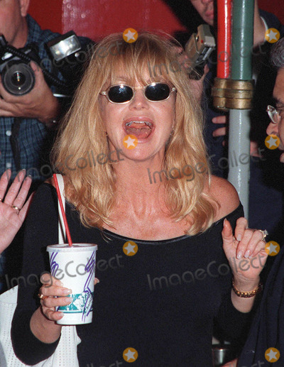 Goldie Photo - 21OCT98  Actress GOLDIE HAWN at the Hollywood premiere of Soldier which stars Kurt Russell  Gary Busey Busey