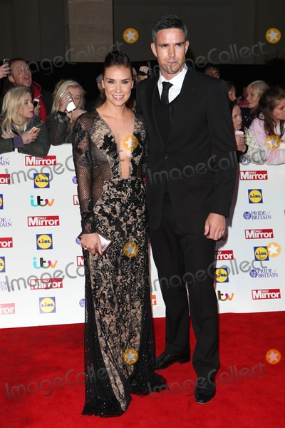 Kevin Pietersen Photo - Jessica Taylor and Kevin Pietersen arriving for the 2014 Pride Of Britain Awards at the Grosvenor House Hotel London 06102014 Picture by Alexandra Glen  Featureflash