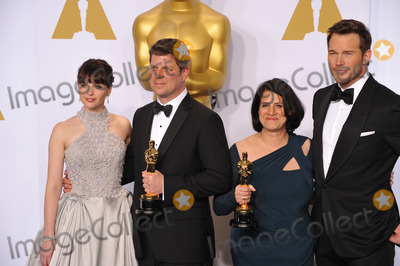 Adam Stockhausen Photo - Felicity Jones  Adam Stockhausen  Anna Pinnock  Chris Pratt at the 87th Annual Academy Awards at the Dolby Theatre HollywoodFebruary 22 2015  Los Angeles CAPicture Paul Smith  Featureflash