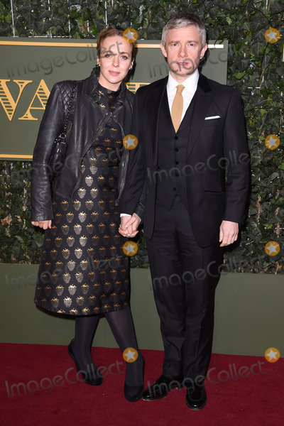 Amanda Abbington Photo - Amanda Abbington  Martin Freeman at the London Evening Standard Theatre Awards 2015 at the Old Vic Theatre LondonNovember 22 2015  London UKPicture Steve Vas  Featureflash