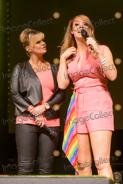 Atomic Kitten Photo - Kerry Katona  Liz McClarnon of Atomic Kitten on stage at Gay Pride 2015 in Manchester Canal Street ManchesterAugust 30 2015  London UKPicture Dave Norton  Featureflash