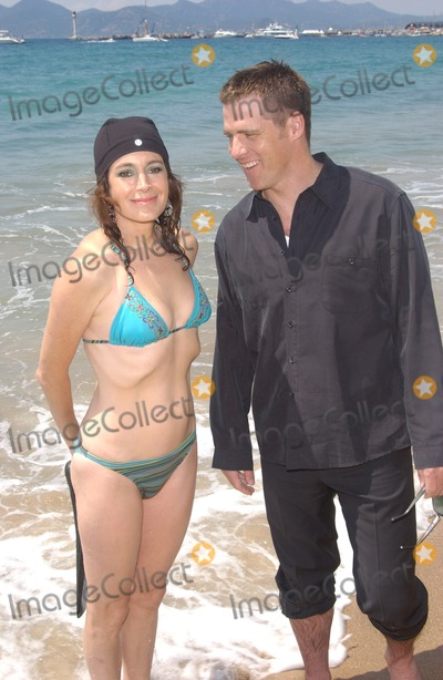 Ben Browder Photo - Actress SEAN YOUNG  actor BEN BROWDER on the Carlton Beach in Cannes France to promote their new movie A Killer Within May 13 2004