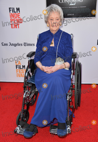 Lorraine Warren Photo - LOS ANGELES CA June 7 2016 Demonologist Lorraine Warren at the world premiere of The Conjuring 2 at the TCL Chinese Theatre HollywoodPicture Paul Smith  Featureflash