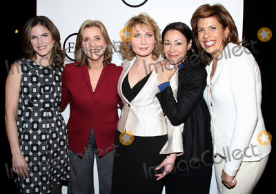 Natalie Morales Photo - (L-R) Today Show anchors  Natalie Morales Meredith Vieira Anne Curry and Hoba Kotb pictured with celebrity make-up artist Eve Pearl (C) during the Eve Pearl make-up studio and boutique grand opening on Dec 3 2008 in New York City