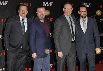 Dana Brunetti Photo - London UK   Ted Sarandos Ricky Gervais Kevin Spacey  Dana Brunetti     at the House of Cards UK Premiere at the Empire Leicester Square 26th February 2015 RefLMK315-50575-270215 Can NguyenLandmark MediaWWWLMKMEDIACOM