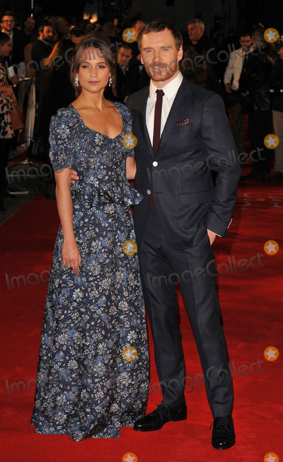 Alicia Vikander Photo - London UK Alicia Vikander and Michael Fassbender at The Light Between Oceans - UK film premiere at the Curzon Mayfair London on October 19th 2016Ref LMK315-61154-201016Can NguyenLandmark MediaWWWLMKMEDIACOM