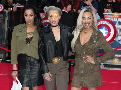 Alexandra Buggs Photo - London UK Kris Anderson Courtney Rumbold and Alexandra Buggs - of Stooshe  at Captain America Civil War UK Premiere at the Vue Westfield Shopping Centre London on April 26th 2016Ref LMK73-60233-270416Keith MayhewLandmark Media WWWLMKMEDIACOM