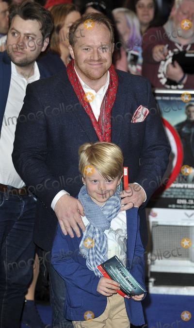 Alan Taylor Photo - London UK Alan Taylor  son Max at the UK Film Premiere of Captain America The Winter Soldier at Westfield London in London England March 20 2014Ref LMK386-47917-210314Gary MitchellLandmark Media WWWLMKMEDIACOM
