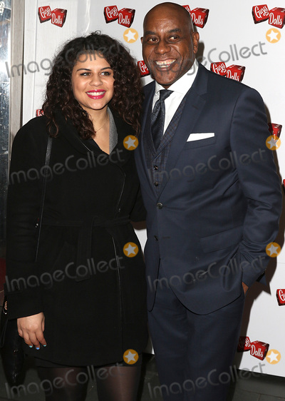 Ainsley Harriott Photo - London UK Ainsley Harriott  Maddie Harriott at Guys  Dolls - Press Night at The Savoy Theatre London UK 06 January 2016 Ref LMK394-58765-070116Brett D CoveLandmark Media WWWLMKMEDIACOM