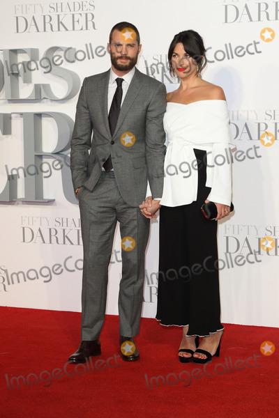 Jamie Dornan Photo - London UK Jamie Dornan and Amelia Warner at the Fifty Shades Darker Premiere held at Odeon Leicester Square London on Thursday 9 February 2017Ref LMK73-61656-100217Keith MayhewLandmark Media WWWLMKMEDIACOM