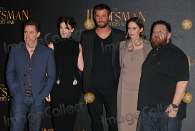 Emily Blunt Photo - London UK Rob Brydon Alexandra Roach Chris Hemsworth Emily Blunt  Nick Frost  at the The Huntsman Winters War film photocall Claridges Hotel Brook Street London UK on Thursday 31 March 2016Ref LMK315- 60126-010416Can NguyenLandmark Media WWWLMKMEDIACOM