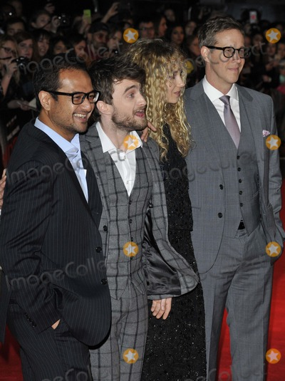 Juno Temple Photo - London UK Riza Aziz Daniel Radcliffe Juno Temple  Joey McFarland at UK Premiere of Horns at Odeon West End Leicester Square London on October 20th 2014Ref LMK315-49867-211014Can NguyenLandmark Media WWWLMKMEDIACOM