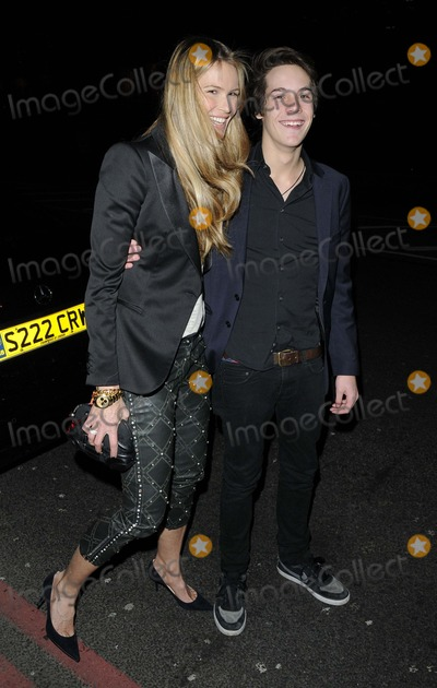 Elle Macpherson Photo - London UK Elle Macpherson with her son at the Barry the Dog VIP fundraiser held at No 3 bar  nightclub Cromwell Rd 26th March 2013Can NguyenLandmark Media