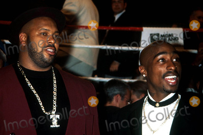 Tupac Shakur Photo - Tupac Shakur and Suge Knight K15382kj Tyson Vs Bruno Fight Las Vegas NV Photokelly JordanGlobe Photos Inc