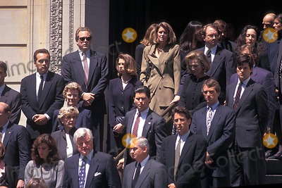 Jackie Onassis Photo - 05301994 Jacqueline Bouvier Kennedy Onassis Funeral Photo Norman Isaacs Ipol Globe Photo Sinc 1994 Ted Kennedy  Christopher Lawford Robert Kennedy Jr St Ignatius Loyola Church