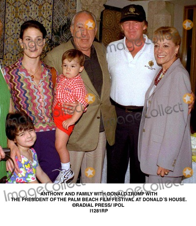 Anthony Quinn Photo - Anthony and Family with Donald Trump with the President of the Palm Beach Film Festival at Donalds House Radial Press Ipol I1281rp Credit Photographer NameipolGlobe Photos Inc Dtrumpmn