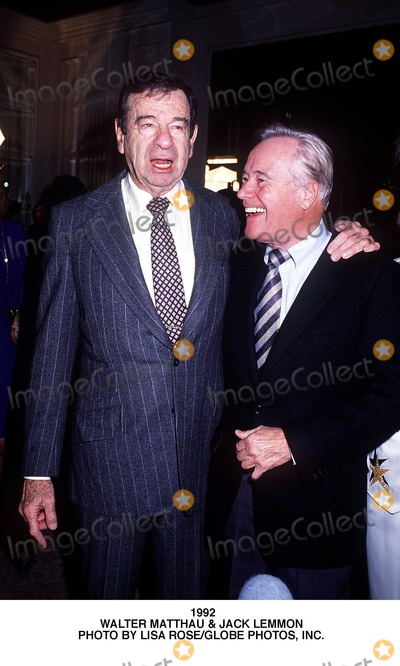 Walter Matthau Photo - Walter Matthau  Jack Lemmon Photo by Lisa RoseGlobe Photos Inc