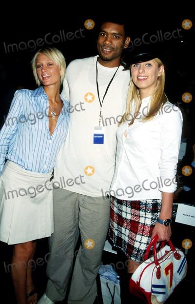 Alan Paris Photo - Sd091802 Tommy Hilfiger Mens  Womens Spring 2003 Fshion Show NYC Paris_nicky Hilton_alan Houston Photo by Rose Hartman Globe Photosinc