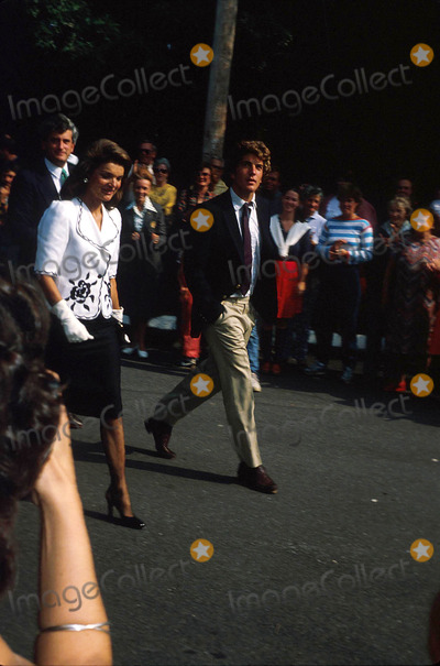 Jacqueline Kennedy Onassis Photo - Jacqueline Kennedy Onassis and John F Kennedy Jr N0887 1983 Photo by Globe Photos Inc Jacquelinekennedyonassisretro