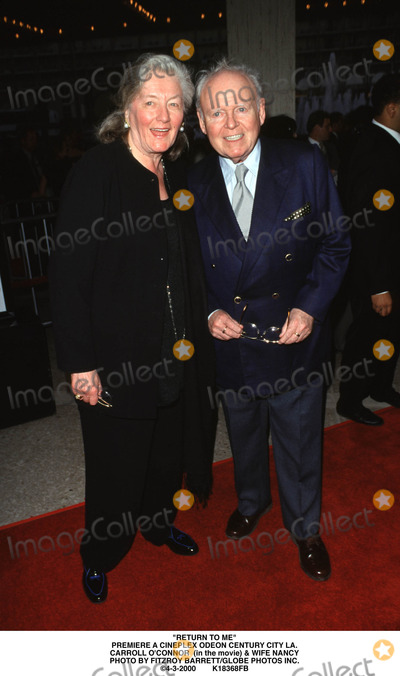Carroll OConnor Photo - Return to ME Premiere a Cineplex Odeon Century City LA Carroll Oconnor (in the Movie)  Wife Nancy Photo by Fitzroy BarrettGlobe Photos Inc 4-3-2000