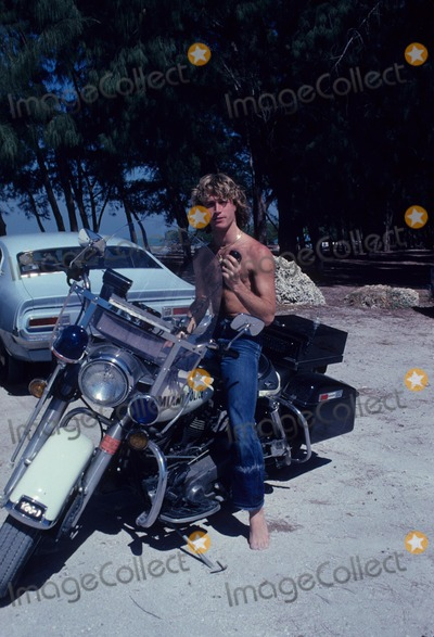 Andy Gibb Photo - Andy Gibb Police Motocycle Photo by Bob Sherman-Globe Photos Inc