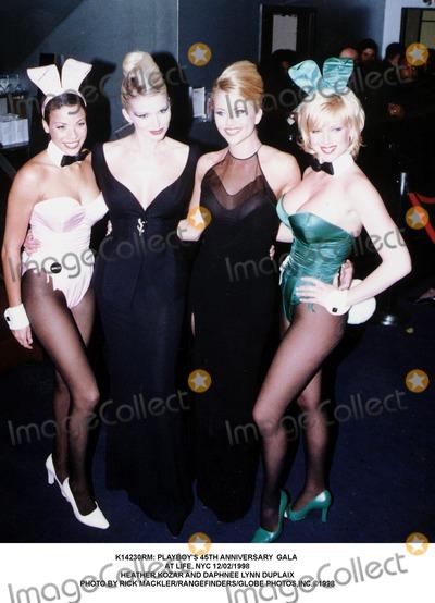 Heather Kozar Photo -  Playboys 45th Anniversary Gala at Life NYC 12021998 Heather Kozar and Daphnee Lynn Duplaix Photo by Rick MacklerrangefindersGlobe Photosinc