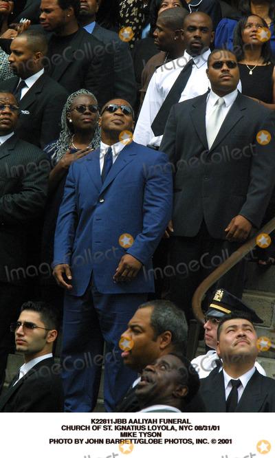 Aaliyah Photo - Aaliyah Funeral Church of St Ignatius Loyola NYC 083101 Mike Tyson Photo by John BarrettGlobe Photos Inc