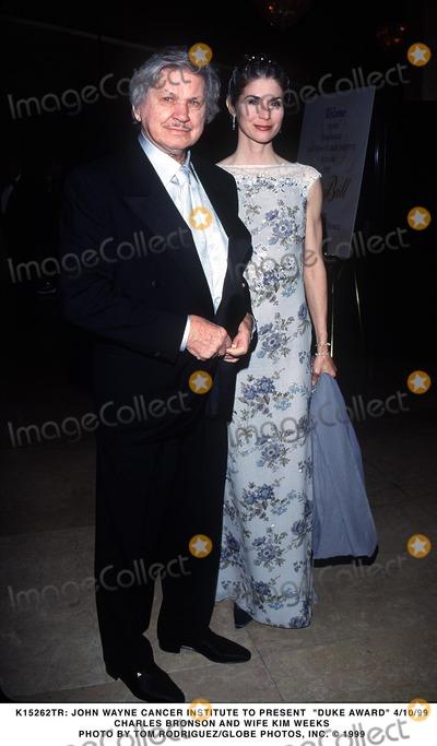 Kim Weeks Photo - 041099 John Wayne Cancer Institute to Present Duke Award Charles Bronson and Wife Kim Weeks Photo by Tom RodriguezGlobe Photos Inc