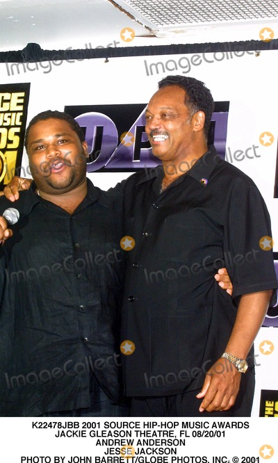 Andrew Anderson Photo - 2001 Source Hip-hop Music Awards Jackie Gleason Theatre FL 082001 Andrew Anderson Jesse Jackson Photo by John BarrettGlobe Photos Inc