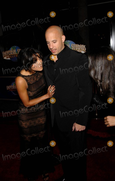 Michelle Rodriguez Photo - Michelle Rodriguez and Vin Diesel During the Premiere of the New Movie From Universal Pictures Fast and Furious Held at the Gibson Amphitheatre on March 12 2009 in Los Angeles Photo Michael Germana-Globe Photos Inc 2009