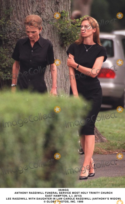 Lee Radziwill Photo - Anthony Radziwill Funeral Service Most Holy Trinity Church East Hampton Li (813) Lee Radziwill with Daughter in Law Carole Radziwill (anthonys Widow) Globe Photos Inc