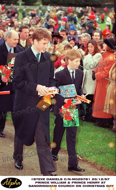 William Prince Photo - 1297 Prince William  Prince Henry at Sandringham Church on Christmas Day