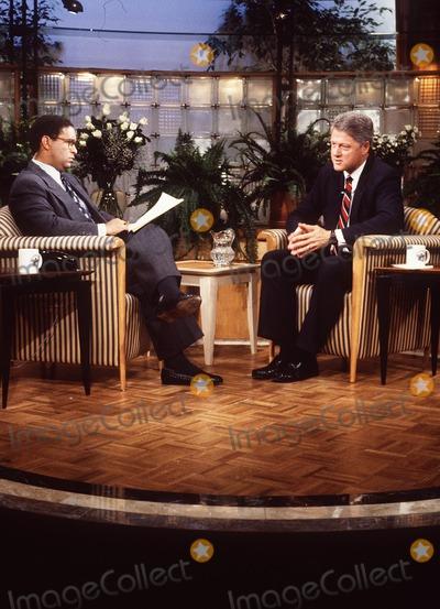 Al Levine Photo - Today Show Bryant Gumbel Bill Clinton Photo by AL LevineGlobe Photos Inc