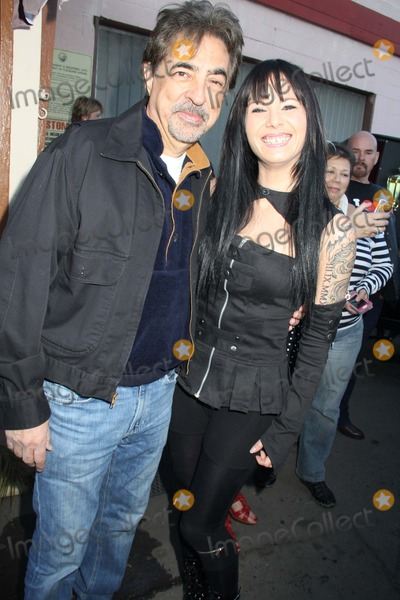 ANGELA MARIE Photo - George Barris King of the Kustomizers 88th Birthday Party Barris Kustom Shop North Hollywood CA 11242013 Joe Mantegna and Angela Marie DE Pietro Clinton H Wallace-ipol-Globe Photos Inc Photo by Clinton H Wallace - Globe Photos Inc