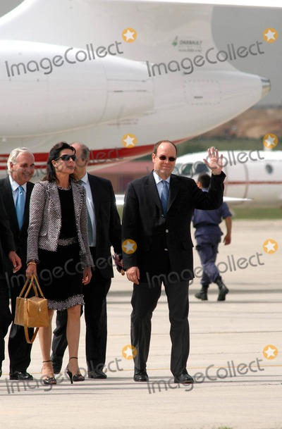 Queen Fabiola Photo - AlfaquiglobelinkukcomGlobe Photos 000799 05212004 Prince Albert Princess Caroline of Monaco  Prince Ernst of Hanover Royal Wedding of Prince Felipe of Spain  Letizia Ortiz -Airport Arrivals -Barajas Airportmadrid