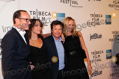 Michael J Fox Photo - Trust Me Premiere Tribeca Performing Arts Center Ny4-20-2013 Photo by - Ken Babolcsay IpolGlobe Photo 2013 Clark Gregg Jennifer Grey Michael J Fox Tracy Pollan