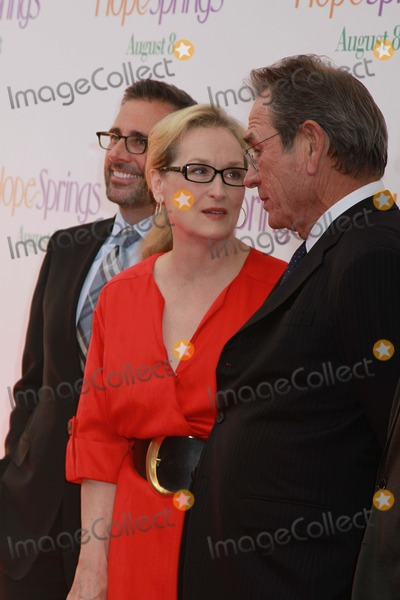 Tommy Lee Photo - Columbia Pictures Presents the World Premiere of Hope Springs Sva Theater NYC August 6 2012 Photos by Sonia Moskowitz Globe Photos Inc 2012 Steve Carell Meryl Streep Tommy Lee Jones