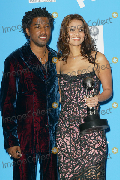 Babyface Photo - Naacp Image Awards at the Universal Amphitheatre Los Angeles CA Kenneth Babyface Edmonds and Wife Tracy Photo by Fitzroy Barrett  Globe Photos Inc 2-23-2002 K24180fb (D)