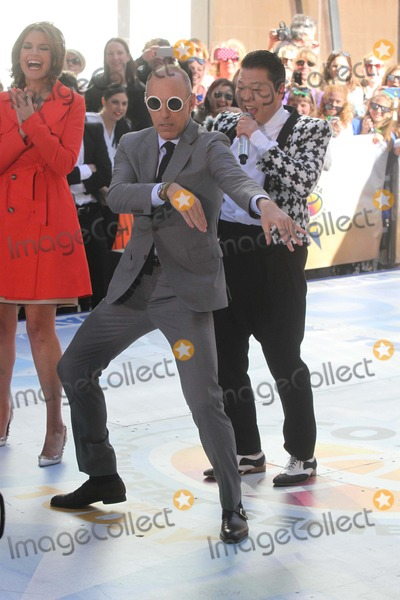 Matt Lauer Photo - Psy Performs on NBC Today Show Dancing with Matt Lauer 5-3-2013 Photos by John BarrettGlobe Photos