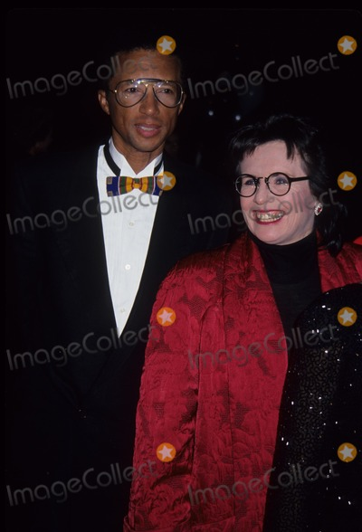 Billy Jean King Photo - Arthur Ashe with Billie Jean King Sudafed Womens Sports Awards Dinner 1992 L3999 Photo by John Barrett-Globe Photos Inc