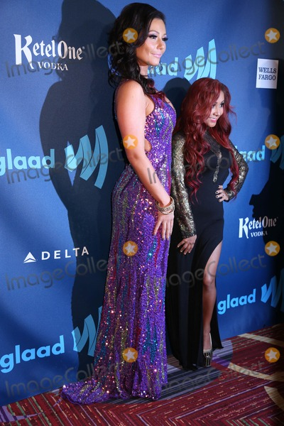 Nicole Snooki Polizzi Photo - The 24th Annual Glaad Media Awards the Marriott Marquis Hotel NYC March 16 2013 Photos by Sonia Moskowitz Globe Photos Inc 2013 Jenni (J Woww) Farley Nicole (Snooki) Polizzi