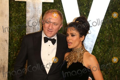Salma Hayek Photo - Actress Salma Hayek and Her Husband Francois-henri Pinault Arrive at the Vanity Fair Oscar Party at Sunset Tower in West Hollywood Los Angeles USA on 24 February 2013 Photo Alec Michael Photo by Alec Michael- Globe Photos Inc