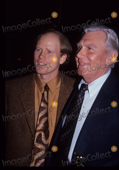 Andy Griffith Photo - Andy Griffith with Ron Howard Natpe Lifetime Achievement Awards 1992 L2546 Photo by John Barrett-Globe Photos Inc