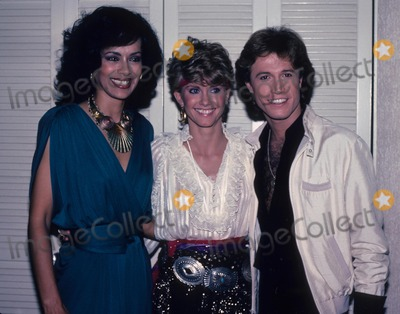 Andy Gibb Photo - Andy Gibb Marilyn Mccoo Olivia Newton John 1981 E2579c Supplied by Globe Photos Inc
