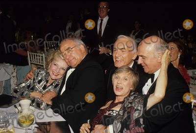 Betty White Photo - Ed Asner Betty White Ted Knight Gavin Macleod Cloris Leachman Supplied by Globe Photos Inc