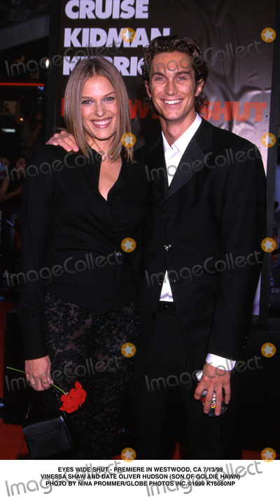 Goldie Photo - Eyes Wide Shut-premiere in Westwood CA 73199 Vinessa Shaw and Date Oliver Hudson (Son of Goldie Hawn) Photo by Nina PrommerGlobe Photos Inc 1999