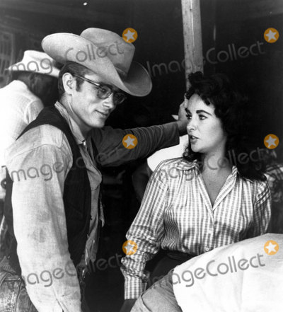 Dean Taylor Photo - James Dean and Elizabeth Taylor Filming the Movie Giant Globe Photos Inc