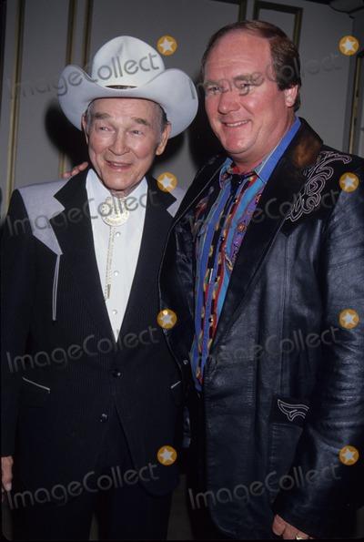 Roy Rogers Photo - Roy Rogers with Son Dusty 1994 Photo by Michael Ferguson-Globe Photos Inc